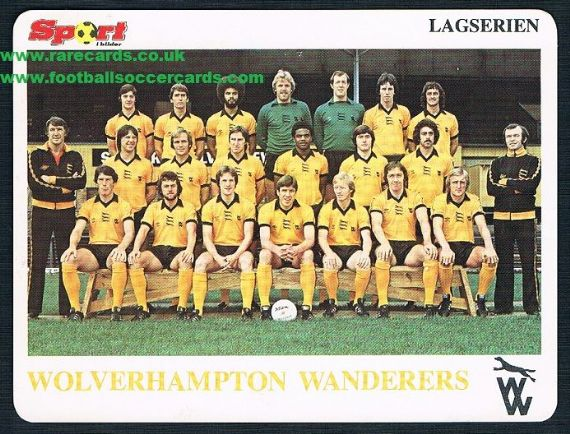 1979 Wolves team card Norway